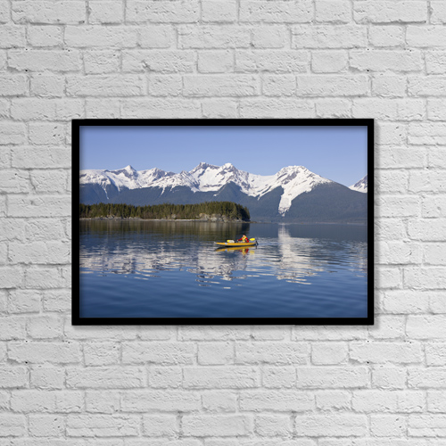 "Printscapes Wall Art: 18"" x 12"" Canvas Print With Black Frame - Alaska, Juneau, Favorite Passage by John Hyde"