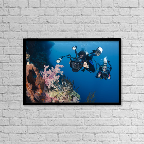 "Printscapes Wall Art: 18"" x 12"" Canvas Print With Black Frame - Travel by Dave Fleetham"