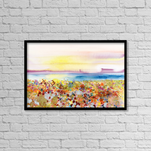"Printscapes Wall Art: 18"" x 12"" Canvas Print With Black Frame - Scenic by Tara Thelen"