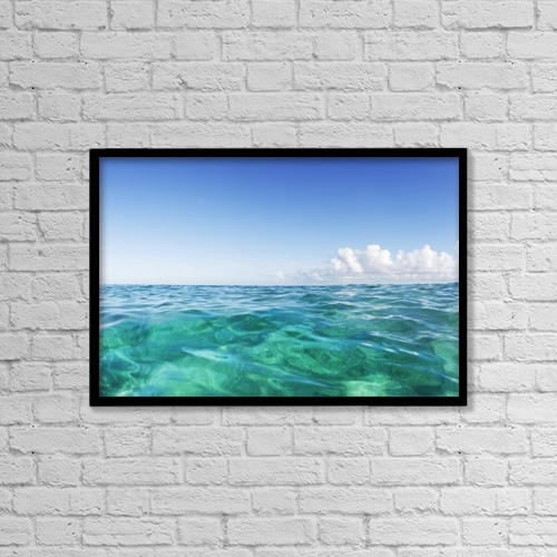 "Printscapes Wall Art: 18"" x 12"" Canvas Print With Black Frame - Scenic by Vince Cavataio"