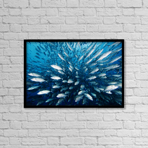 """Printscapes Wall Art: 18"""" x 12"""" Canvas Print With Black Frame - Architectural Exteriors by Dave Fleetham"""