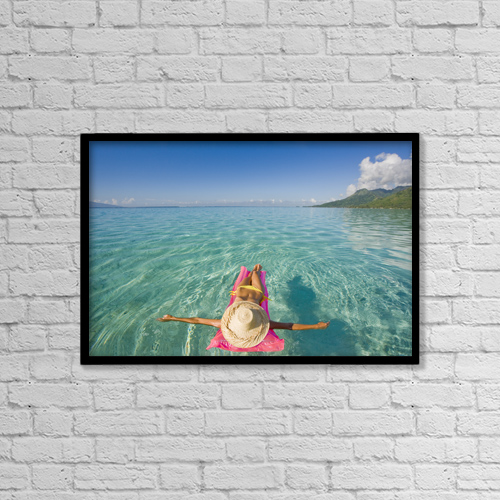 "Printscapes Wall Art: 18"" x 12"" Canvas Print With Black Frame - Travel by M Swiet Productions"