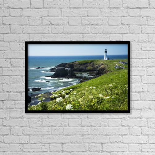 "Printscapes Wall Art: 18"" x 12"" Canvas Print With Black Frame - Scenic by Peter French"