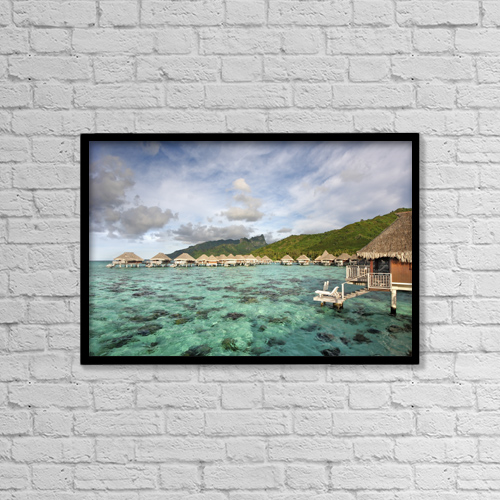 """Printscapes Wall Art: 18"""" x 12"""" Canvas Print With Black Frame - Scenic by M Swiet Productions"""