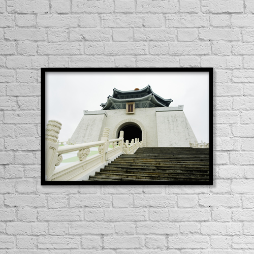 "Printscapes Wall Art: 18"" x 12"" Canvas Print With Black Frame - Travel by Bill Brennan"