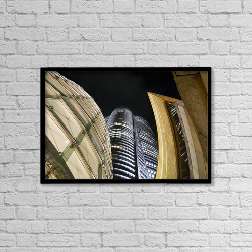 "Printscapes Wall Art: 18"" x 12"" Canvas Print With Black Frame - Japan, Roppongi by Bill Brennan"