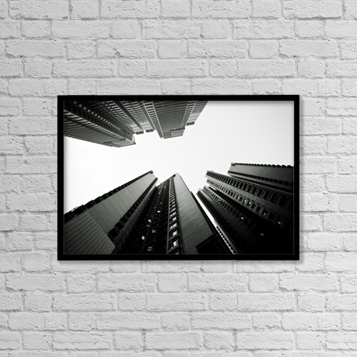 "Printscapes Wall Art: 18"" x 12"" Canvas Print With Black Frame - Architectural Exteriors by Ray Laskowitz"