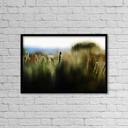 "Printscapes Wall Art: 18"" x 12"" Canvas Print With Black Frame - Scenic by Ray Laskowitz"