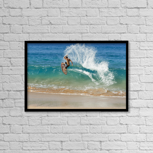 "Printscapes Wall Art: 18"" x 12"" Canvas Print With Black Frame - Sports and Recreation by MakenaStockMedia"