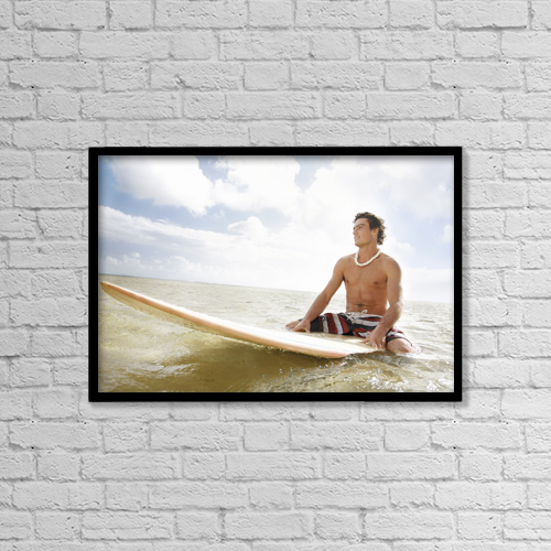 "Printscapes Wall Art: 18"" x 12"" Canvas Print With Black Frame - Scenic by Brandon Tabiolo"