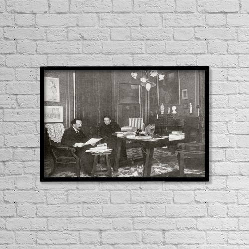 """Printscapes Wall Art: 18"""" x 12"""" Canvas Print With Black Frame - P by Ken Welsh"""