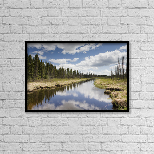 "Printscapes Wall Art: 18"" x 12"" Canvas Print With Black Frame - Scenic by Susan Dykstra"