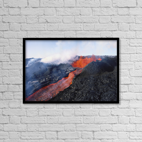 "Printscapes Wall Art: 18"" x 12"" Canvas Print With Black Frame - Nature by Joe Carini"