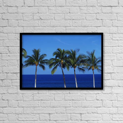 "Printscapes Wall Art: 18"" x 12"" Canvas Print With Black Frame - Travel by Kyle Rothenborg"