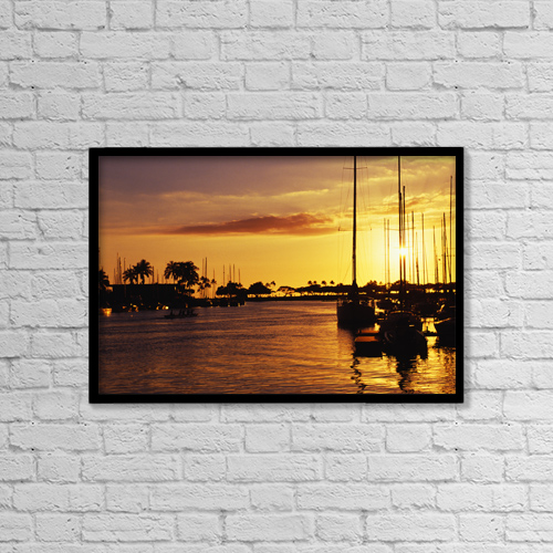 """Printscapes Wall Art: 18"""" x 12"""" Canvas Print With Black Frame - Scenic by Chris Abraham"""