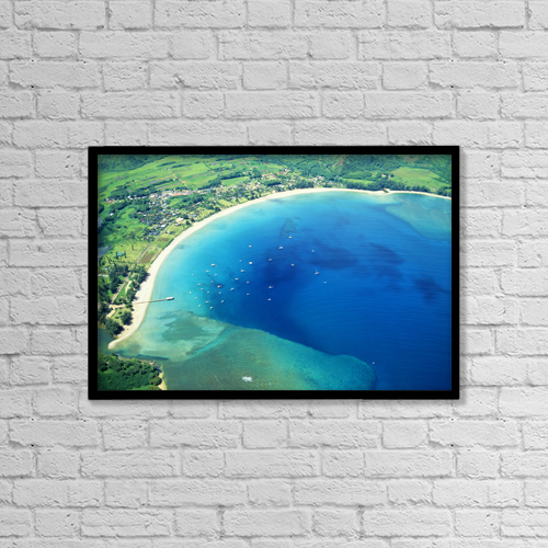 "Printscapes Wall Art: 18"" x 12"" Canvas Print With Black Frame - Scenic by Robert Sablan"