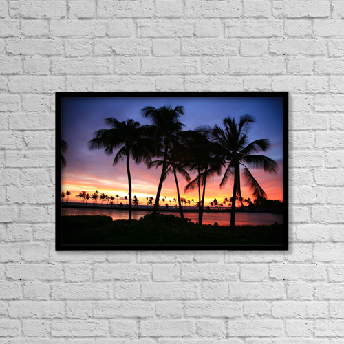 "Printscapes Wall Art: 18"" x 12"" Canvas Print With Black Frame - Travel by Peter French"