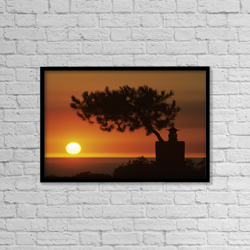 "Printscapes Wall Art: 18"" x 12"" Canvas Print With Black Frame - Scenic by Larry Dale Gordon"
