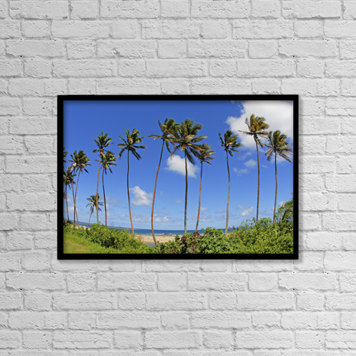 "Printscapes Wall Art: 18"" x 12"" Canvas Print With Black Frame - Scenic by Himani Smeaton"