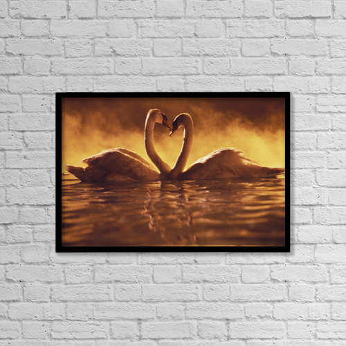 "Printscapes Wall Art: 18"" x 12"" Canvas Print With Black Frame - Animals by Brent Black"