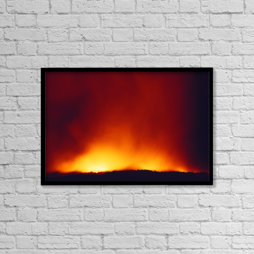 """Printscapes Wall Art: 18"""" x 12"""" Canvas Print With Black Frame - Nature by Chris Abraham"""
