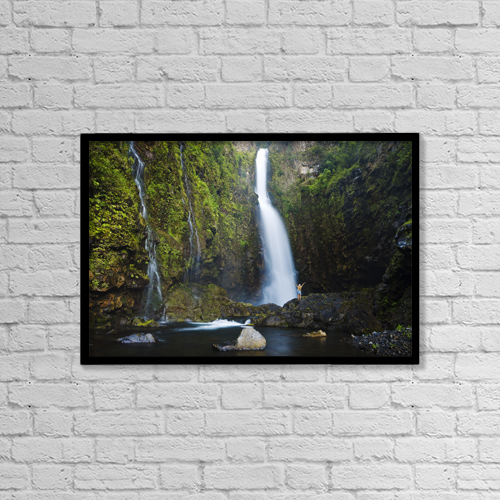 "Printscapes Wall Art: 18"" x 12"" Canvas Print With Black Frame - Scenic by MakenaStockMedia"
