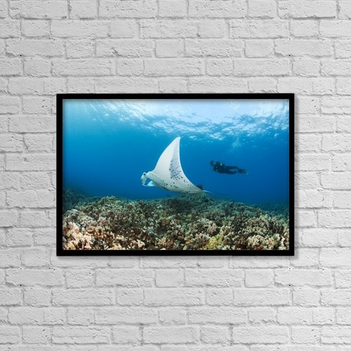 """Printscapes Wall Art: 18"""" x 12"""" Canvas Print With Black Frame - Travel by Dave Fleetham"""