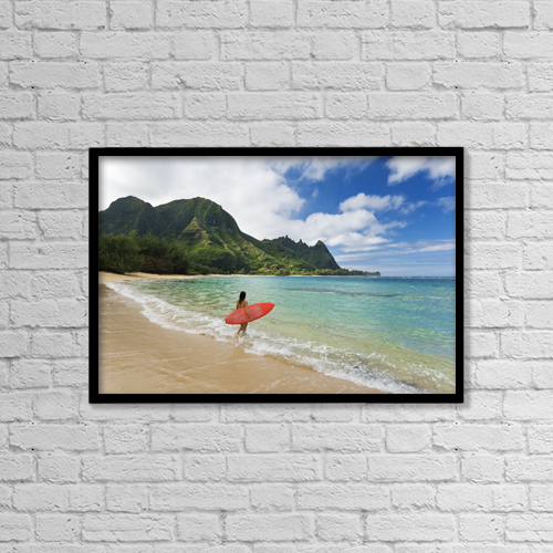 """Printscapes Wall Art: 18"""" x 12"""" Canvas Print With Black Frame - Sports and Recreation by M Swiet Productions"""