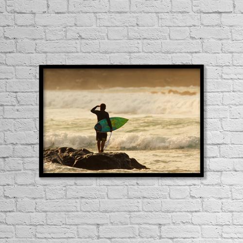 "Printscapes Wall Art: 18"" x 12"" Canvas Print With Black Frame - Scenic by MakenaStockMedia"