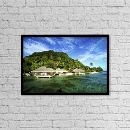"Printscapes Wall Art: 18"" x 12"" Canvas Print With Black Frame - Travel by David Cornwell"