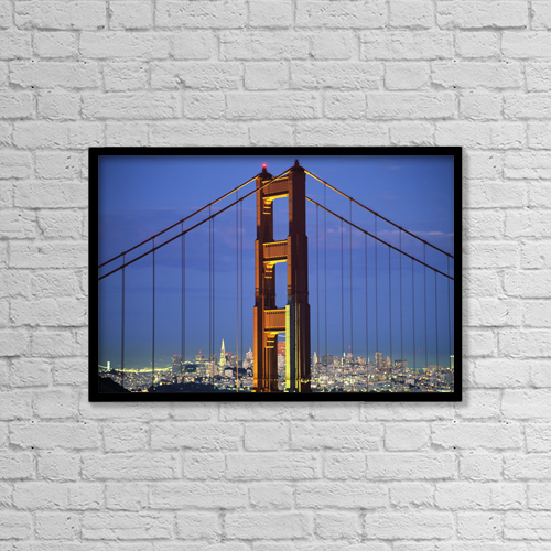 "Printscapes Wall Art: 18"" x 12"" Canvas Print With Black Frame - Transportation by Robert Sablan"