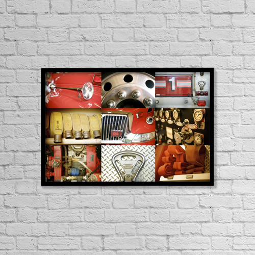 """Printscapes Wall Art: 18"""" x 12"""" Canvas Print With Black Frame - Transportation by Kicka Witte"""