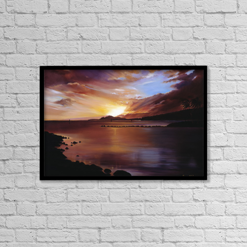"Printscapes Wall Art: 18"" x 12"" Canvas Print With Black Frame - Scenic by Han Choi"