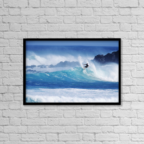 "Printscapes Wall Art: 18"" x 12"" Canvas Print With Black Frame - Sports and Recreation by Ron Dahlquist"