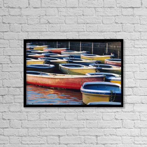 "Printscapes Wall Art: 18"" x 12"" Canvas Print With Black Frame - Scenic by Joe Carini"