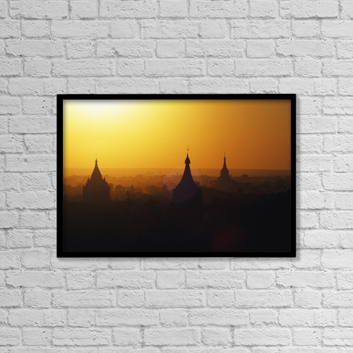 "Printscapes Wall Art: 18"" x 12"" Canvas Print With Black Frame - Travel by Robert Sablan"