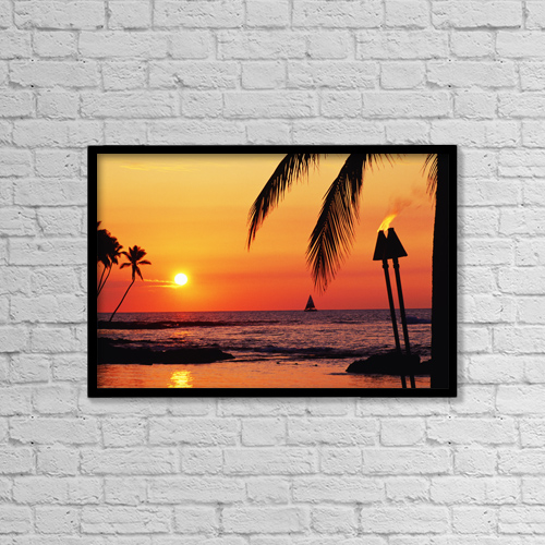 "Printscapes Wall Art: 18"" x 12"" Canvas Print With Black Frame - Travel by Chris Abraham"