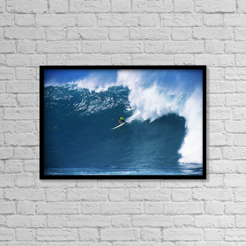 "Printscapes Wall Art: 18"" x 12"" Canvas Print With Black Frame - Sports and Recreation by Vince Cavataio"