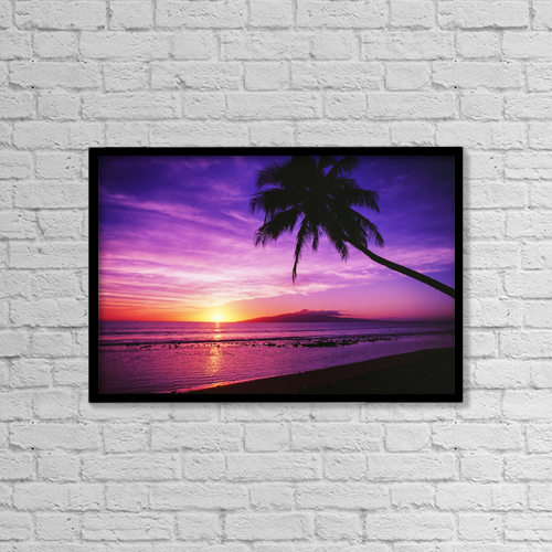 """Printscapes Wall Art: 18"""" x 12"""" Canvas Print With Black Frame - Scenic by Ron Dahlquist"""