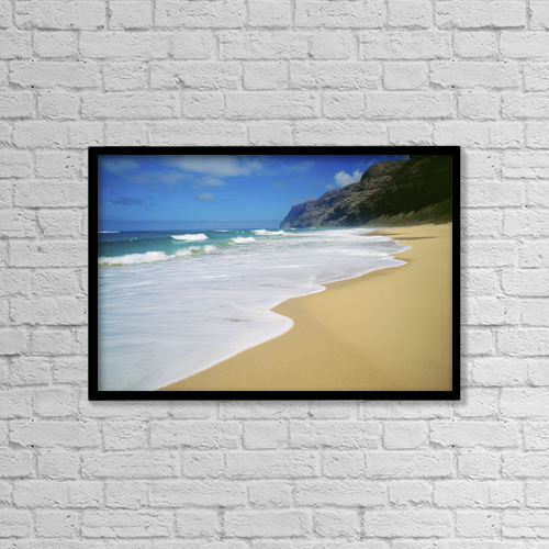 "Printscapes Wall Art: 18"" x 12"" Canvas Print With Black Frame - Travel by Mary Van de Ven"