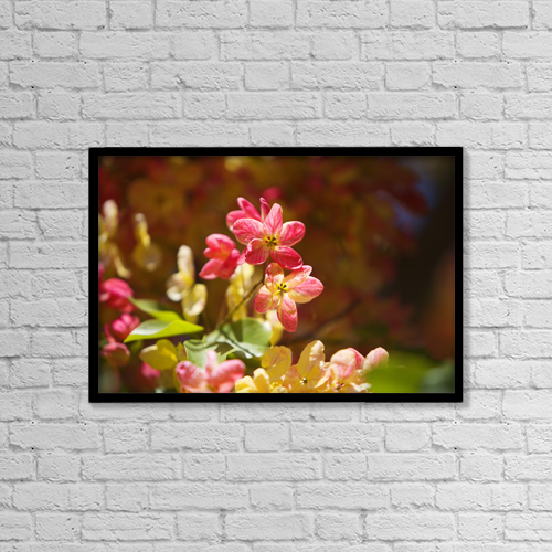 "Printscapes Wall Art: 18"" x 12"" Canvas Print With Black Frame - Nature by Ron Dahlquist"