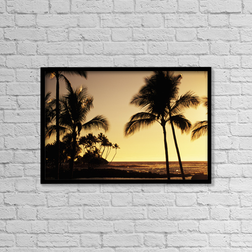 "Printscapes Wall Art: 18"" x 12"" Canvas Print With Black Frame - Scenic by Dana Edmunds"