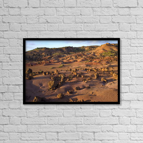 "Printscapes Wall Art: 18"" x 12"" Canvas Print With Black Frame - USA, Hawaii, Garden Of Gods; Lanai by Ron Dahlquist"
