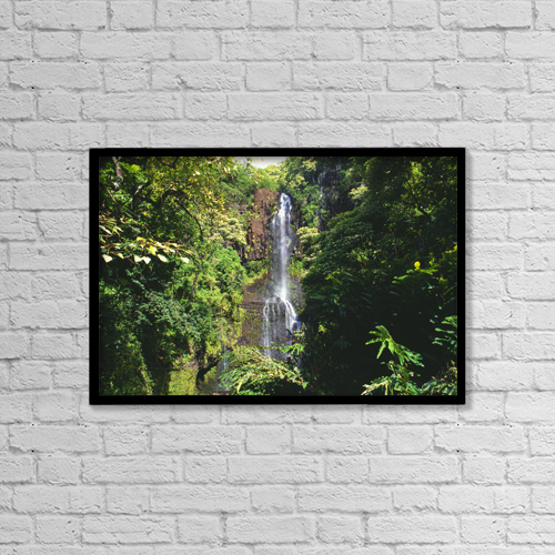 "Printscapes Wall Art: 18"" x 12"" Canvas Print With Black Frame - Scenic by Mary Van de Ven"