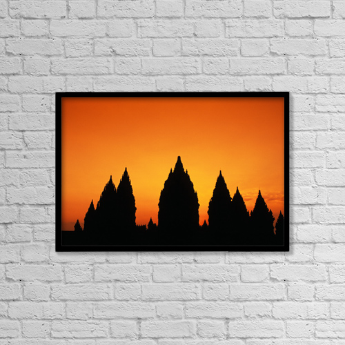 "Printscapes Wall Art: 18"" x 12"" Canvas Print With Black Frame - Architectural Exteriors by Richard Maschmeyer"