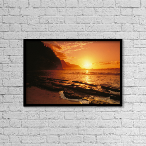 """Printscapes Wall Art: 18"""" x 12"""" Canvas Print With Black Frame - Scenic by Allan Seiden"""
