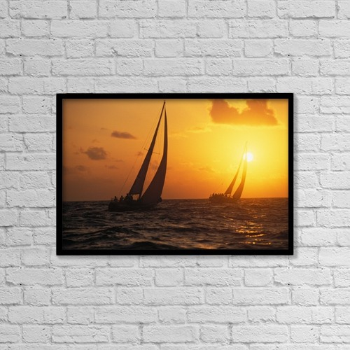 "Printscapes Wall Art: 18"" x 12"" Canvas Print With Black Frame - Scenic by Chris Abraham"