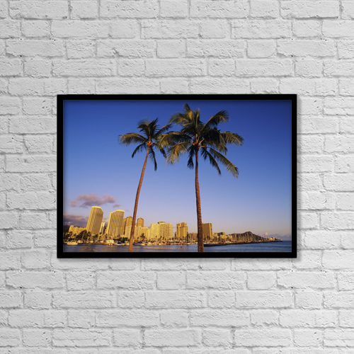 "Printscapes Wall Art: 18"" x 12"" Canvas Print With Black Frame - by Carl Shaneff"