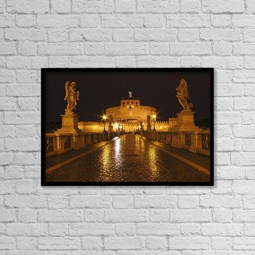 """Printscapes Wall Art: 18"""" x 12"""" Canvas Print With Black Frame - Artwork and Paintings by Trish Punch"""
