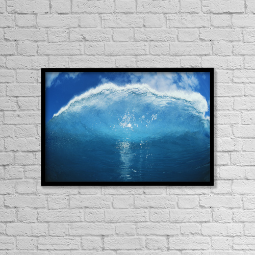 """Printscapes Wall Art: 18"""" x 12"""" Canvas Print With Black Frame - Travel by Liysa Swart"""